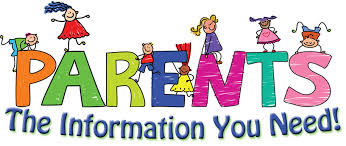 Image that says parent information