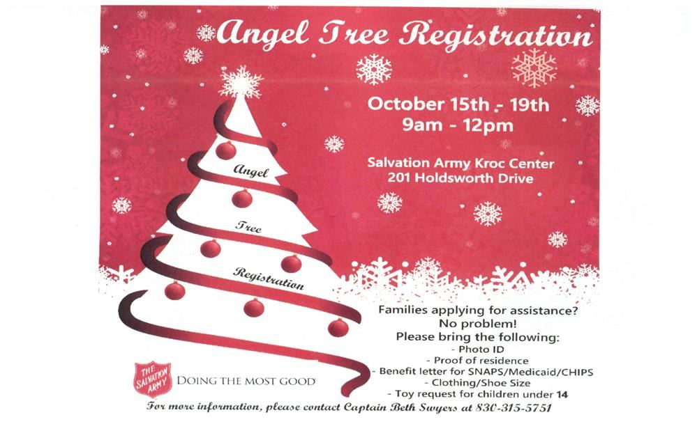 salvation army angel tree registration - Salvation Army Christmas Angel