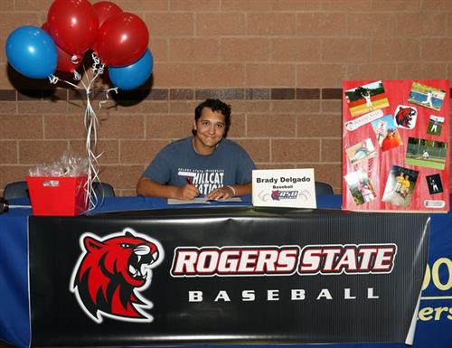 delgado signing with rogers state