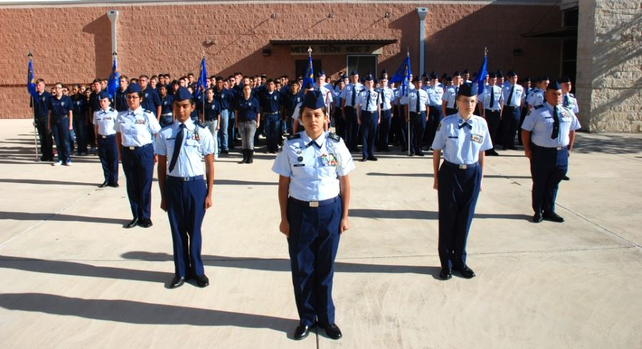 picture of ROTC cadets in formation