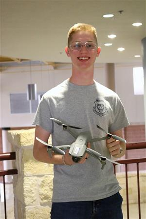 Tivy Senior Obtains FAA Drone Pilot License