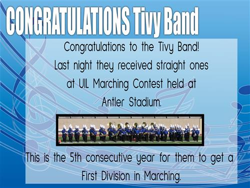 Band congratulations