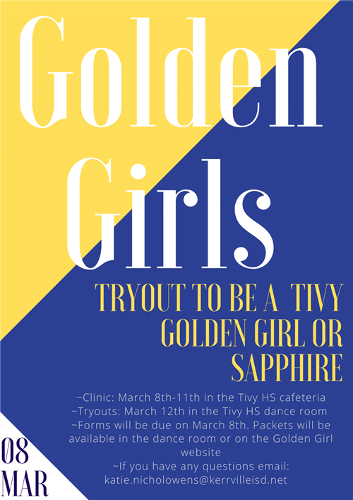 Golden Girl Tryout information 2021
