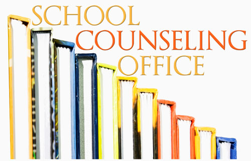 image of books with counseling office name